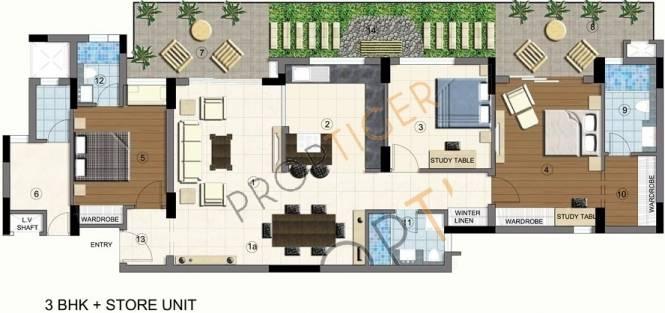 Brisk Lumbini Terrace Homes (3BHK+3T (2,022 sq ft) Apartment 2022 sq ft)