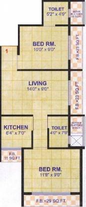 Madhuraaj Nandishwar (2BHK+2T (880 sq ft) Apartment 880 sq ft)
