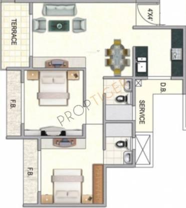 Paradise Sai Ganga (2BHK+2T (1,060 sq ft) Apartment 1060 sq ft)