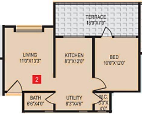 PS Vastu Samruddhi (1BHK+1T (596 sq ft) Apartment 596 sq ft)