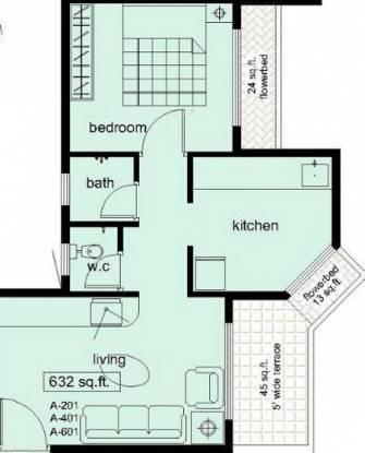 Swaraj Symphony (1BHK+1T (632 sq ft) Apartment 632 sq ft)