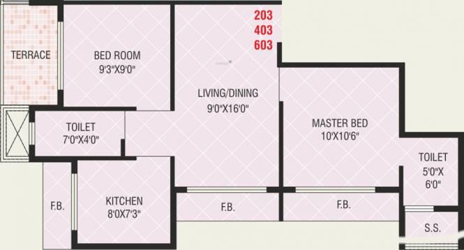 Today Shree Smaran (2BHK+2T (920 sq ft) Apartment 920 sq ft)