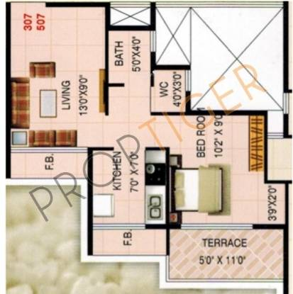 KK Solitaire (1BHK+1T (625 sq ft) Apartment 625 sq ft)