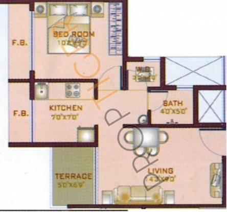 KK Emerald (1BHK+1T (640 sq ft) Apartment 640 sq ft)