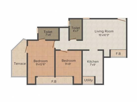 Marvels Kshipra Residency (2BHK+2T (800 sq ft) Apartment 800 sq ft)