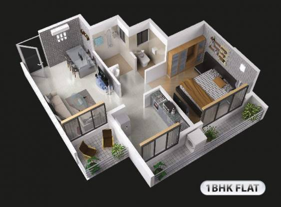 Mango 44 (1BHK+1T (630 sq ft) Apartment 630 sq ft)