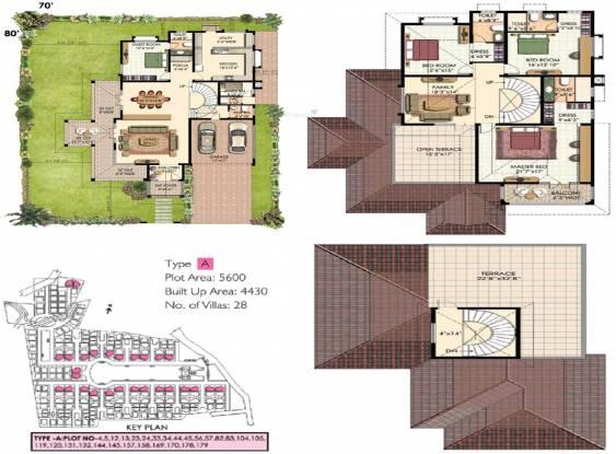 Prestige Oasis (4BHK+5T (4,430 sq ft) + Servant Room Villa 4430 sq ft)