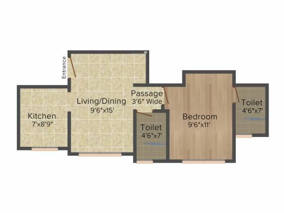 Hiranandani Lavinia (1BHK+2T (630 sq ft) Apartment 630 sq ft)