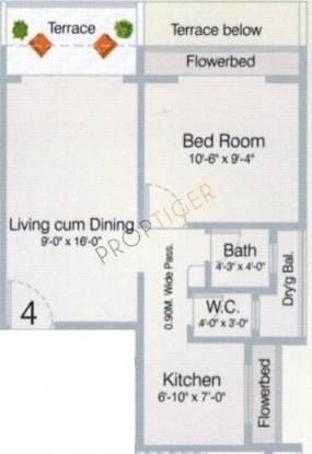 VM Mohan Pride (1BHK+1T (685 sq ft) Apartment 685 sq ft)