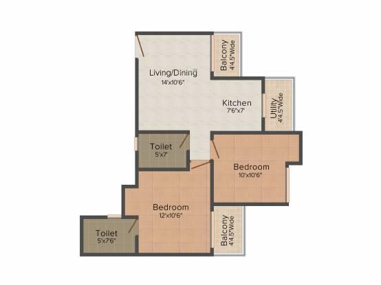 Sethi Max Royal (2BHK+2T (895 sq ft) Apartment 895 sq ft)
