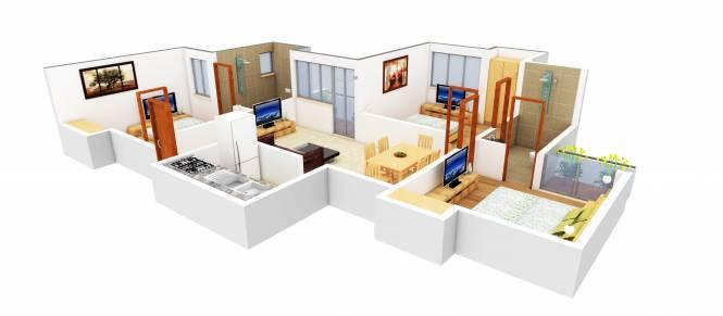 SDS NRI Residency (3BHK+2T (1,215 sq ft) Apartment 1215 sq ft)