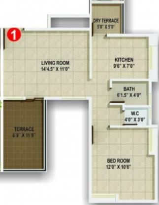 Horizon Aster Trinity (1BHK+1T (650 sq ft) Apartment 650 sq ft)