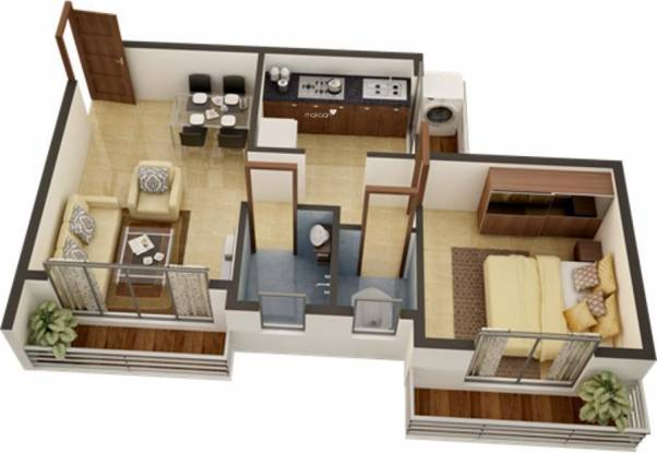 Space Green Earth Residency (1BHK+1T (650 sq ft) Apartment 650 sq ft)