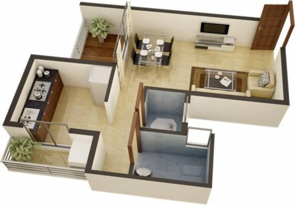 Space Green Earth Residency (1BHK+1T (465 sq ft) Apartment 465 sq ft)