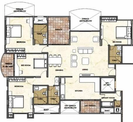 Pride Panorama (4BHK+5T (2,475 sq ft) + Servant Room Apartment 2475 sq ft)