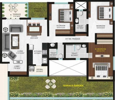 Goel Arcadia (3BHK+3T (2,036 sq ft) + Study Room Apartment 2036 sq ft)