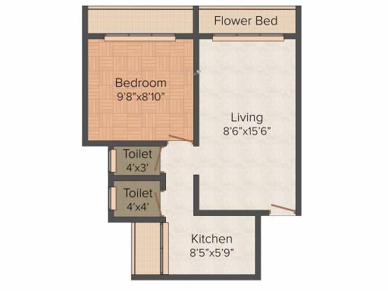 Ganesha Sai Basera (1BHK+1T (590 sq ft) Apartment 590 sq ft)