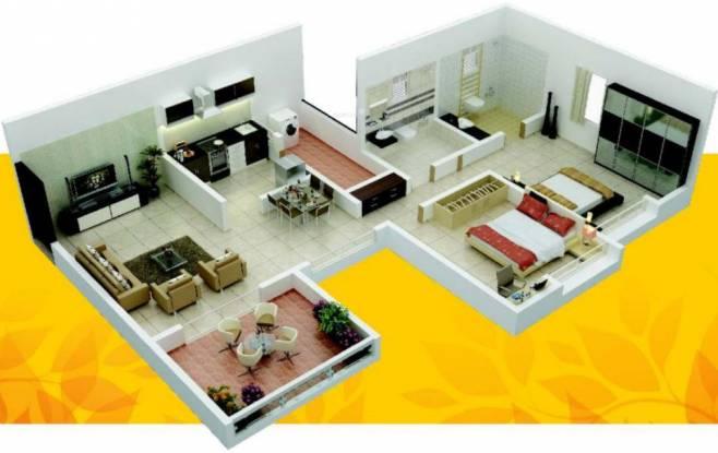 Gulmohar Primrose (2BHK+2T (1,067 sq ft) Apartment 1067 sq ft)