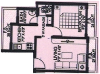 Krishna Square (1BHK+1T (618 sq ft) Apartment 618 sq ft)