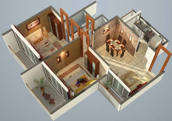 Ganesha Sai Nakshatra (2BHK+2T (852 sq ft) Apartment 852 sq ft)