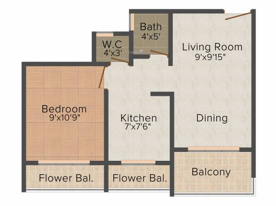 Platinum Avior (1BHK+1T (680 sq ft) Apartment 680 sq ft)