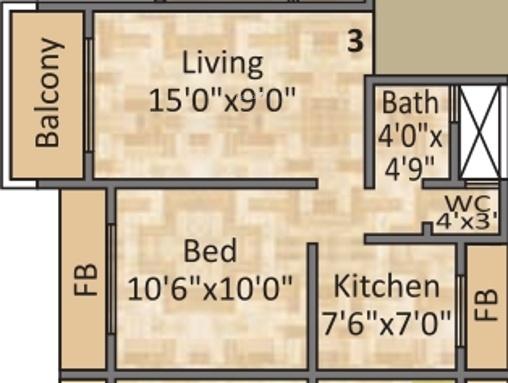 Platinum Palacio (1BHK+1T (635 sq ft) Apartment 635 sq ft)