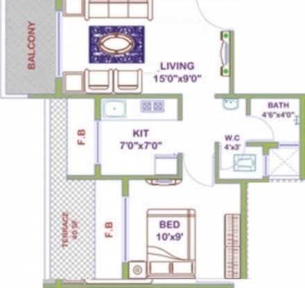 Platinum Regalo (1BHK+1T (670 sq ft) Apartment 670 sq ft)