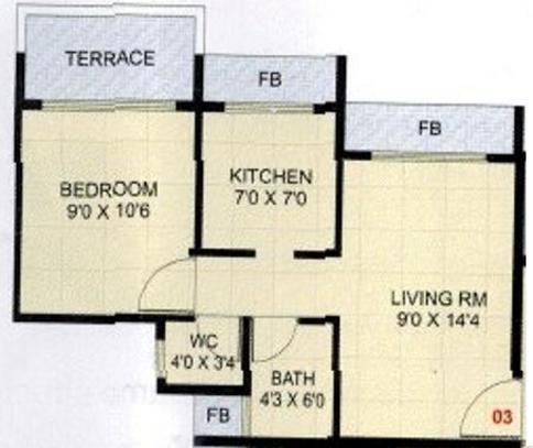 Ronak Residency (1BHK+1T (600 sq ft) Apartment 600 sq ft)