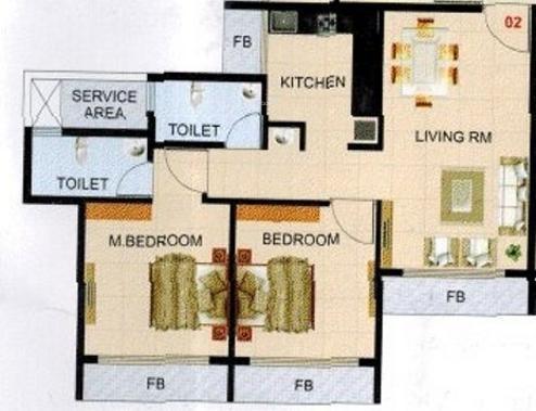 Ronak Residency (2BHK+2T (953 sq ft) Apartment 953 sq ft)