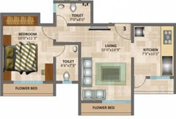 Rosa Elite (1BHK+2T (660 sq ft) Apartment 660 sq ft)
