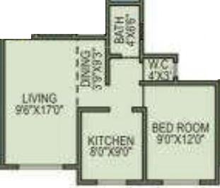 Agarwal Krishna Gardens (1BHK+1T (685 sq ft) Apartment 685 sq ft)