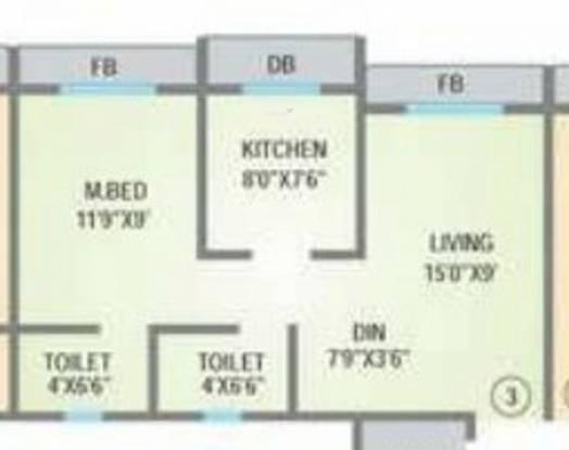 Agarwal Lifestyle (1BHK+2T (560 sq ft) Apartment 560 sq ft)