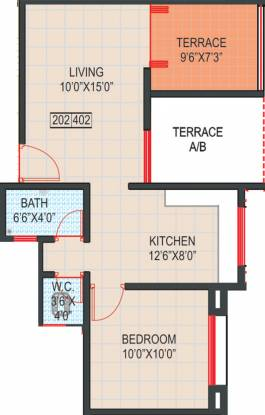 GK Royale Rahadki Greens (1BHK+1T (617 sq ft) Apartment 617 sq ft)