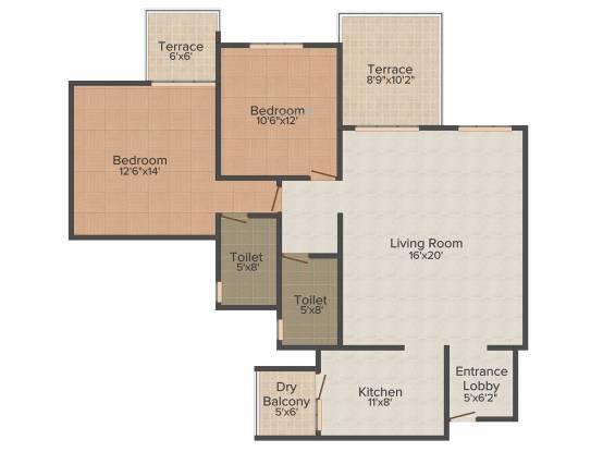 Pride Valencia (2BHK+2T (1,420 sq ft) Apartment 1420 sq ft)