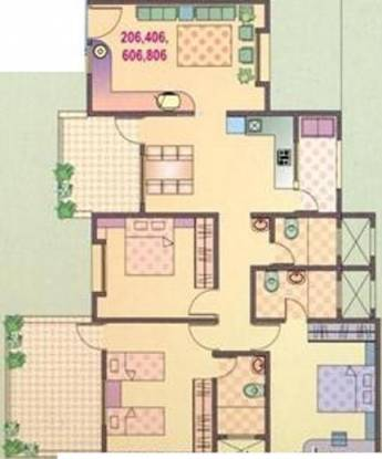 Yash Orchid (3BHK+3T (1,650 sq ft) Apartment 1650 sq ft)