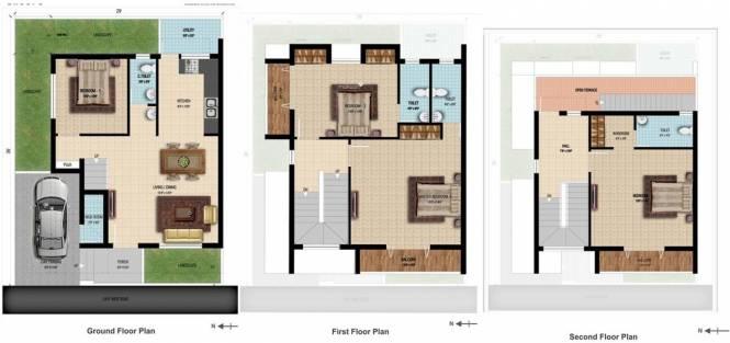 Manju Aalayam (4BHK+4T (1,563 sq ft) Villa 1563 sq ft)