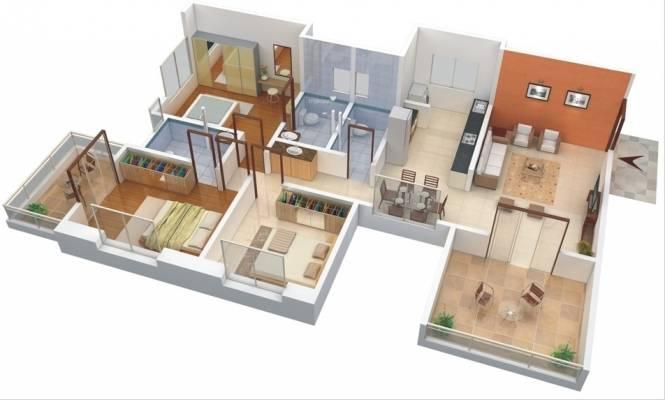 GK Atlanta (3BHK+3T (1,600 sq ft) Apartment 1600 sq ft)