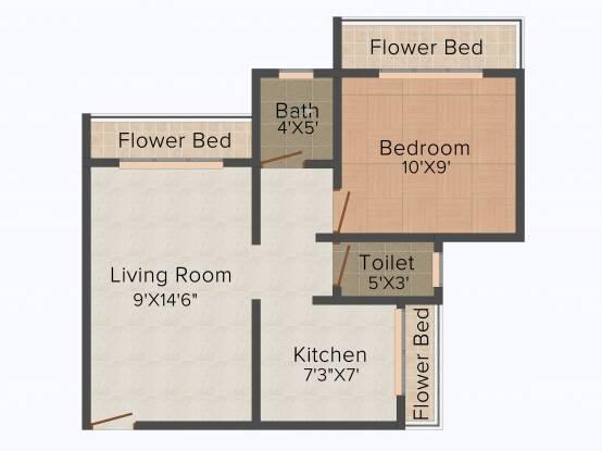 MK Dev Saphire (1BHK+1T (630 sq ft) Apartment 630 sq ft)