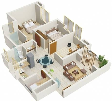 Amanora Trendy Homes (2BHK+2T (1,070 sq ft) + Study Room Apartment 1070 sq ft)