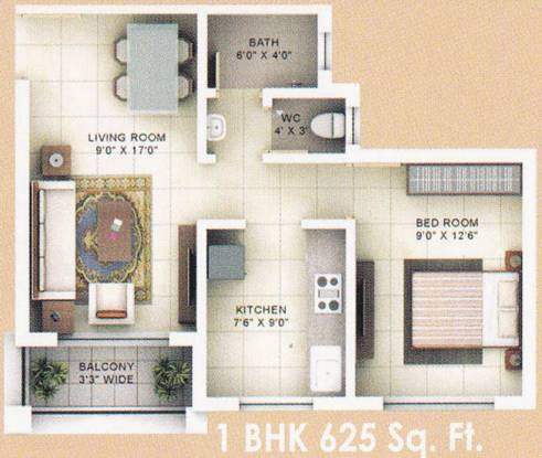 Roop Park (1BHK+1T (625 sq ft) Apartment 625 sq ft)