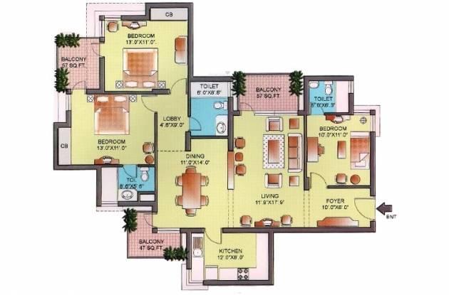 Orchid Petals (3BHK+3T (1,805 sq ft) Apartment 1805 sq ft)