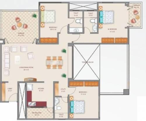5 Star Royal Grandeur (3BHK+3T (1,633 sq ft) Apartment 1633 sq ft)