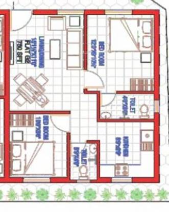 Oyester Ecstacy (2BHK+2T (750 sq ft) Apartment 750 sq ft)