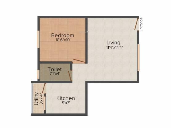 Oyester Crest Castle (1BHK+1T (560 sq ft) Apartment 560 sq ft)