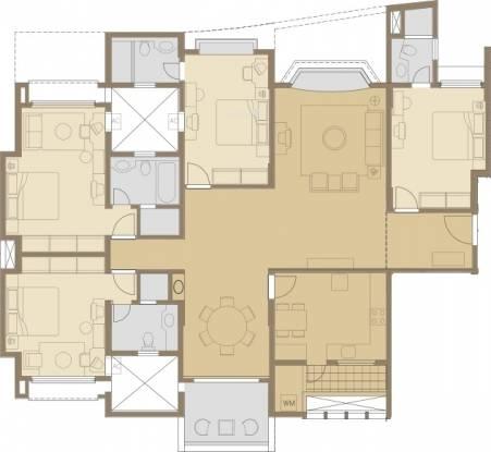 Panchshil Eon Waterfront (4BHK+4T (2,584 sq ft) Apartment 2584 sq ft)