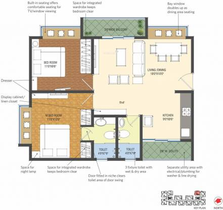Patel Smondo (2BHK+2T (990 sq ft) Apartment 990 sq ft)