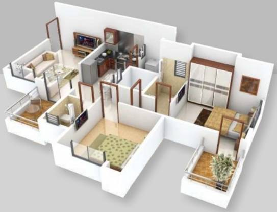 Right Anisha Enclave (2BHK+2T (928 sq ft) Apartment 928 sq ft)