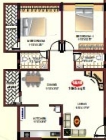 Pariwar Presidency (2BHK+2T (1,015 sq ft) Apartment 1015 sq ft)