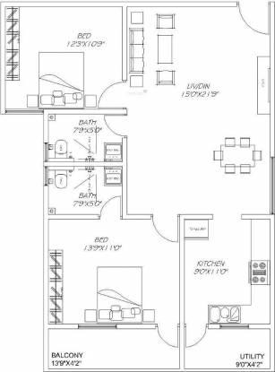 Vmaks Rangoli (2BHK+2T (1,189 sq ft) Apartment 1189 sq ft)