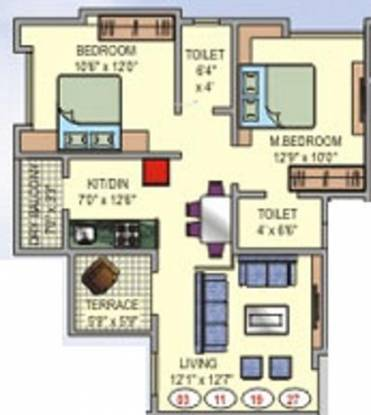 AK Shree Vardhman Nagar (2BHK+2T (1,200 sq ft) Apartment 1200 sq ft)